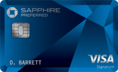Chase Sapphire Preferred<sup>®</sup> Card image.